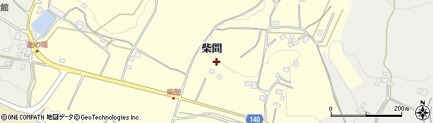 茨城県石岡市柴間周辺の地図