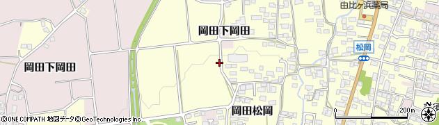 長野県松本市岡田松岡周辺の地図