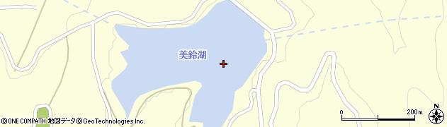 美鈴湖周辺の地図