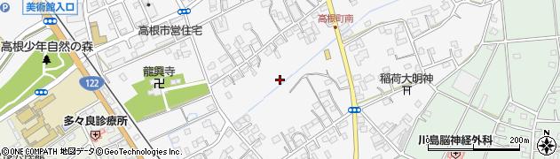 群馬県館林市高根町周辺の地図