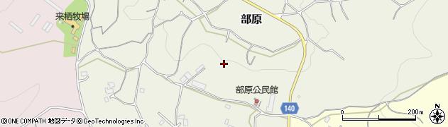 茨城県石岡市部原周辺の地図
