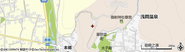 長野県松本市浅間温泉周辺の地図