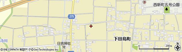 群馬県太田市下田島町周辺の地図