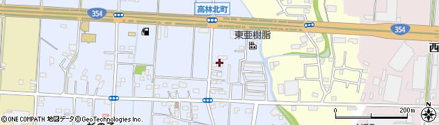群馬県太田市高林北町周辺の地図
