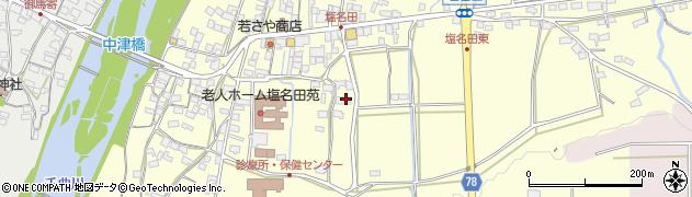 長野県佐久市塩名田周辺の地図