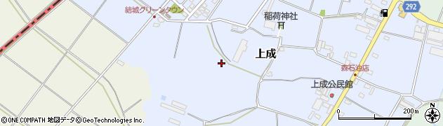 茨城県結城市上成周辺の地図