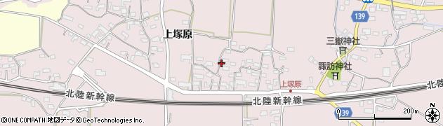長野県佐久市塚原(上塚原)周辺の地図