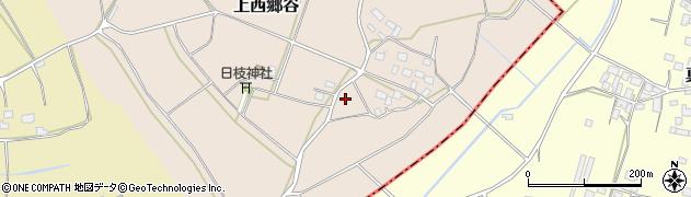 茨城県筑西市上西郷谷周辺の地図