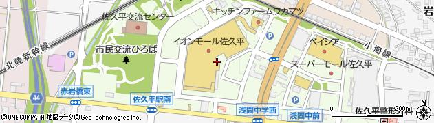 長野県佐久市佐久平駅南周辺の地図