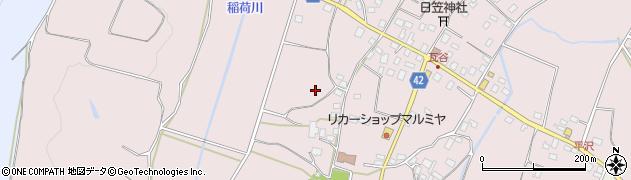 茨城県石岡市瓦谷周辺の地図