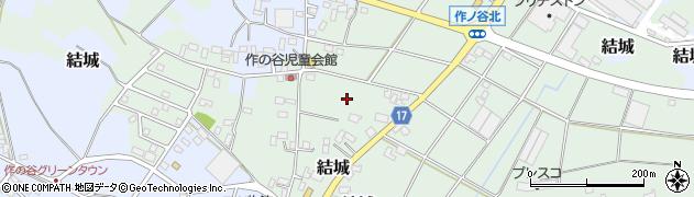 茨城県結城市結城作周辺の地図