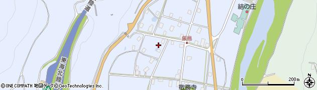 岐阜県白川村(大野郡)飯島周辺の地図