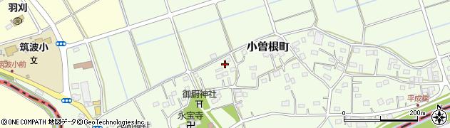 栃木県足利市小曽根町周辺の地図