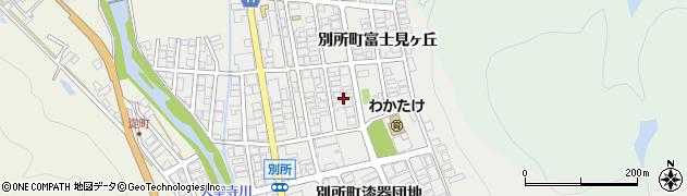 石川県加賀市別所町(富士見ヶ丘)周辺の地図