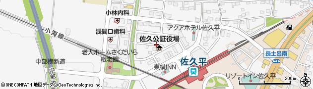 長野県佐久市佐久平駅北周辺の地図