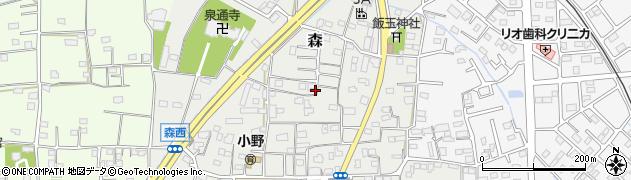 群馬県藤岡市森周辺の地図