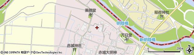 群馬県館林市傍示塚町周辺の地図