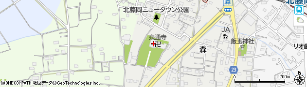 泉通寺周辺の地図