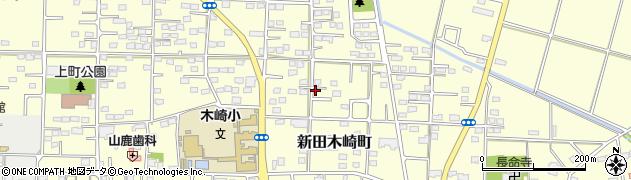 群馬県太田市新田木崎町周辺の地図