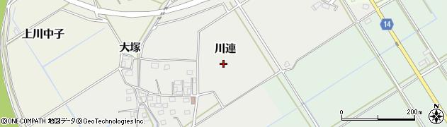 茨城県筑西市川連周辺の地図