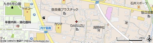 群馬県太田市内ケ島町周辺の地図