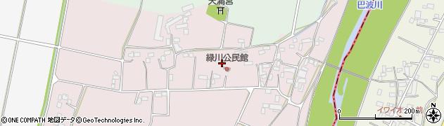 栃木県栃木市藤岡町緑川周辺の地図