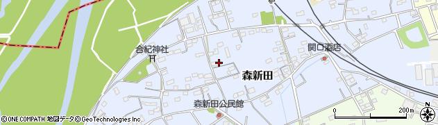 群馬県藤岡市森新田周辺の地図