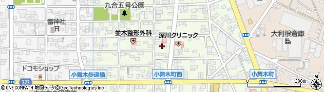 群馬県太田市小舞木町周辺の地図