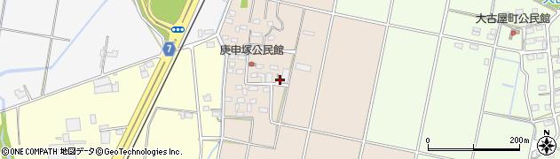 栃木県佐野市庚申塚町周辺の地図