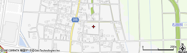 群馬県太田市新田下田中町周辺の地図