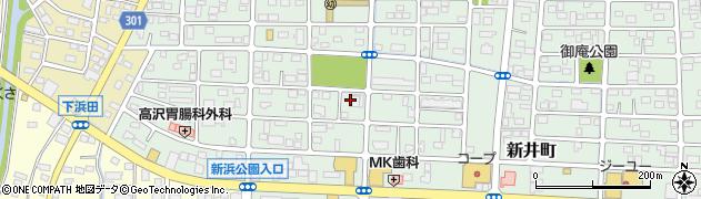 群馬県太田市新井町周辺の地図