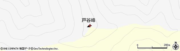 戸谷峰周辺の地図