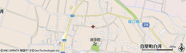 茨城県桜川市真壁町白井周辺の地図