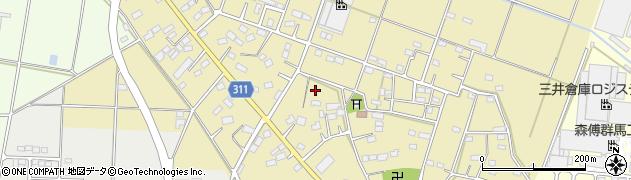 群馬県太田市新田赤堀町周辺の地図