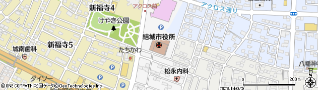 茨城県結城市周辺の地図