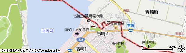 吉崎寺周辺の地図