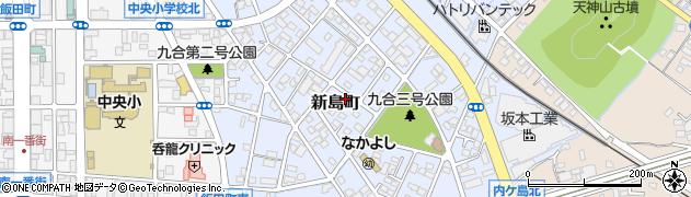 群馬県太田市新島町周辺の地図