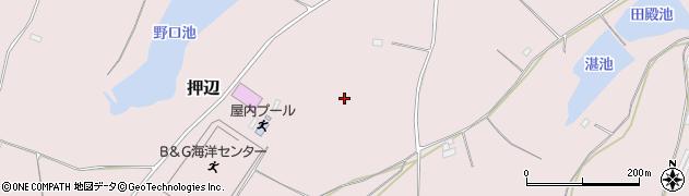 茨城県笠間市押辺周辺の地図