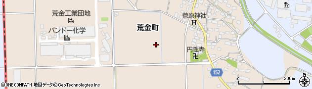 栃木県足利市荒金町周辺の地図