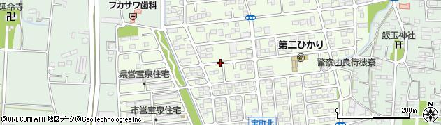 群馬県太田市宝町周辺の地図