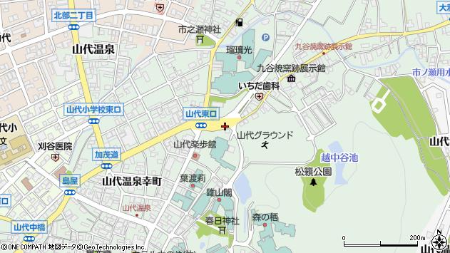 〒922-0252 石川県加賀市山代温泉九谷町の地図