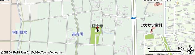 群馬県太田市沖野町周辺の地図