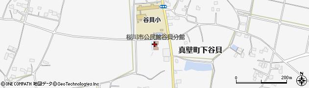 桜川市 桜川公民館谷貝分館周辺の地図