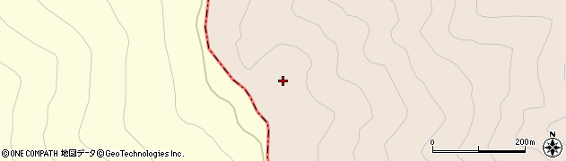 蝶ケ岳周辺の地図