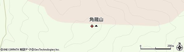 角蔵山周辺の地図