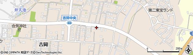 茨城県笠間市吉岡周辺の地図