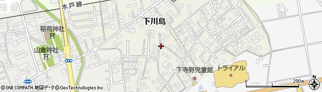 茨城県筑西市下川島周辺の地図