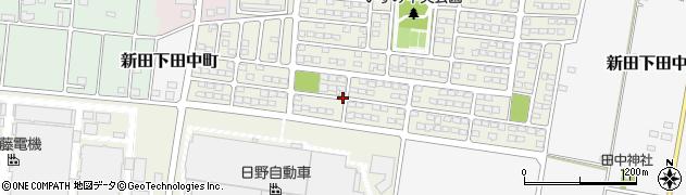 群馬県太田市新田早川町周辺の地図