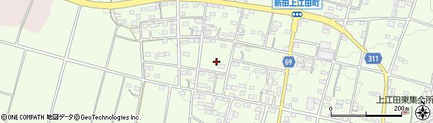 群馬県太田市新田上江田町周辺の地図