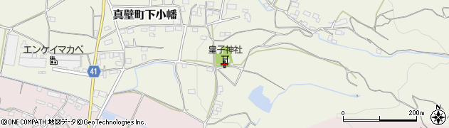皇子神社周辺の地図